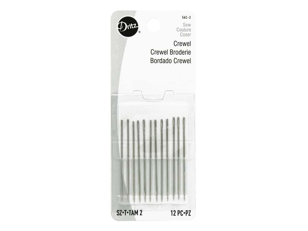 Dritz Crewel Embroidery Needles Size 2 12 pc.