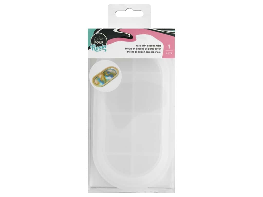 American Crafts Color Pour Resin - Silicone Mold - Soap Dish