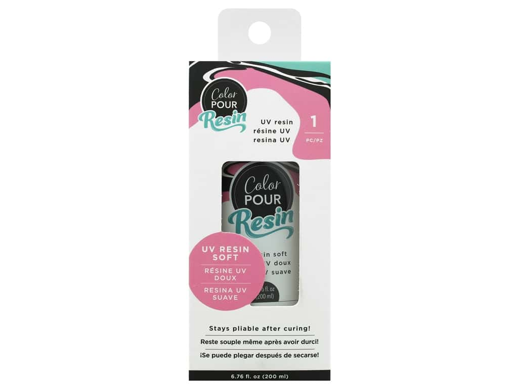 American Crafts Color Pour Resin UV Resin Soft 6.76 oz