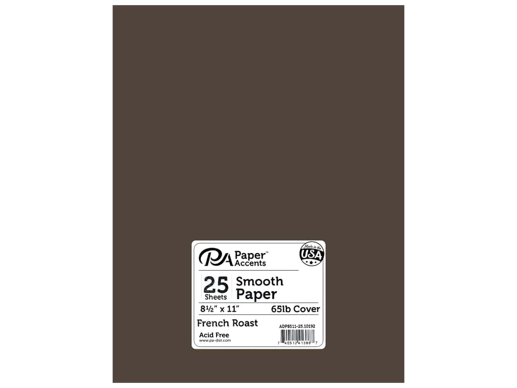 "Paper Accents Cardstock 8.5""x 11"" Smooth 65lb French Roast 25pc"
