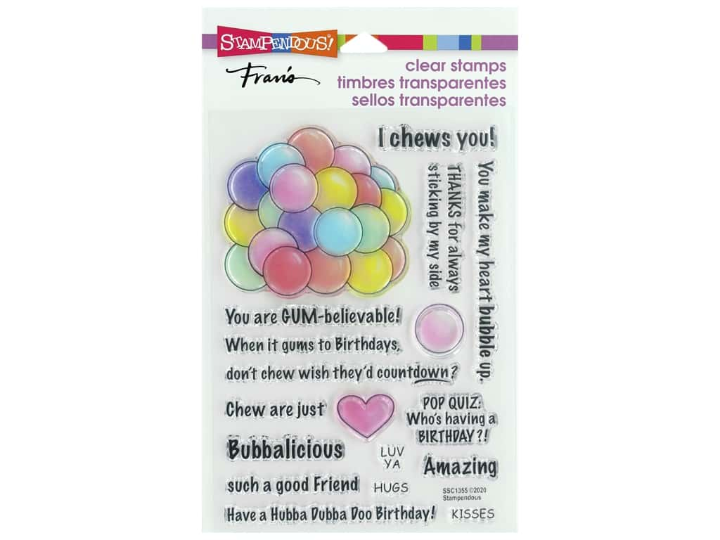 Stampendous Clear Stamp Fran's Gumball Greeting