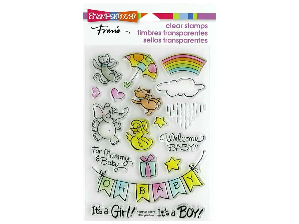 Stampendous Clear Stamp Fran's Baby Gift