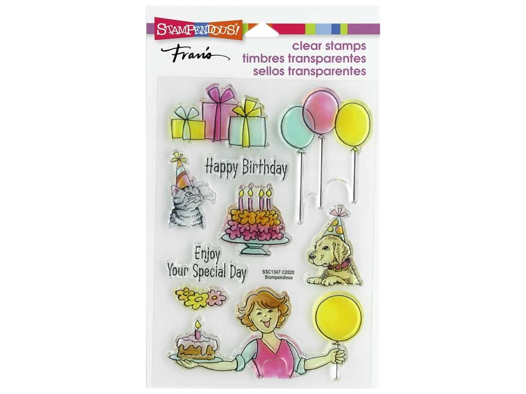Stampendous Clear Stamp Fran's Birthday Gift