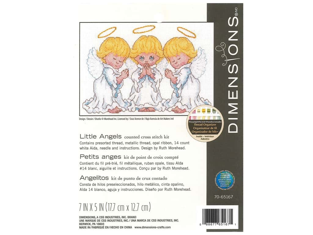 Dimensions Cross Stitch Kit 7 x 5 in. Little Angels