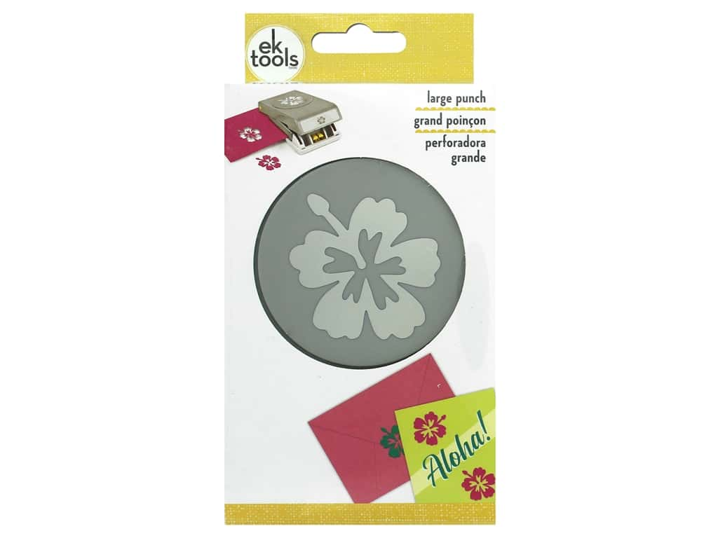 EK Tools Large Punch - Double Hibiscus