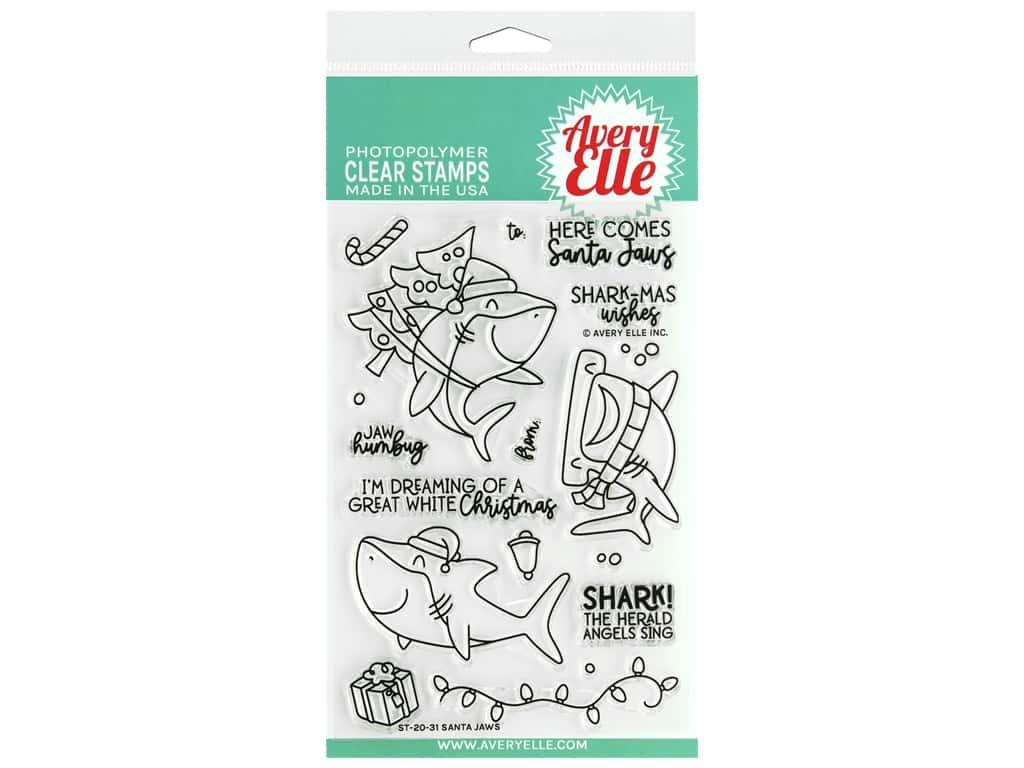 Avery Elle Clear Stamp Santa Jaws