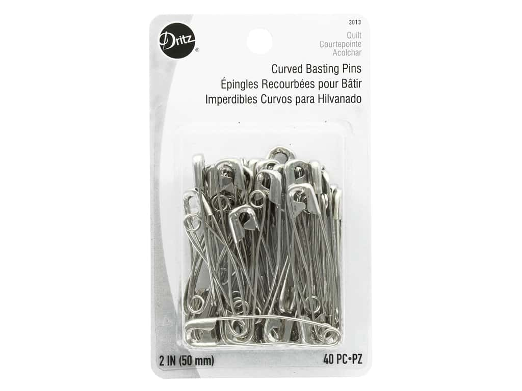 Dritz Curved Basting Pins - 2 in. Nickel 40 pc.