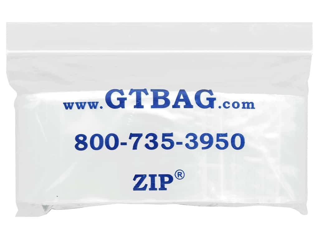 "G.T.Zip Bags Plain 2mil Acid Free 100pc 2""x 3"""
