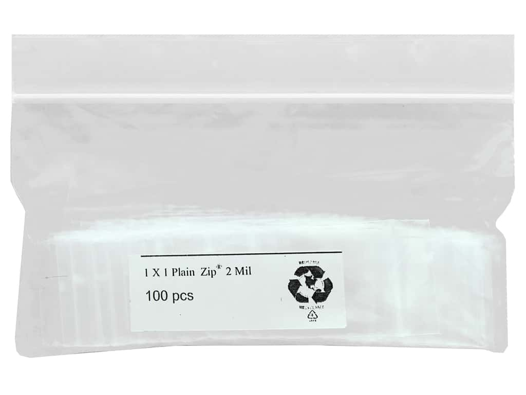GTZIP Plain 2 Mil Zip Bags 1 x 1 in. Clear 100 pc.