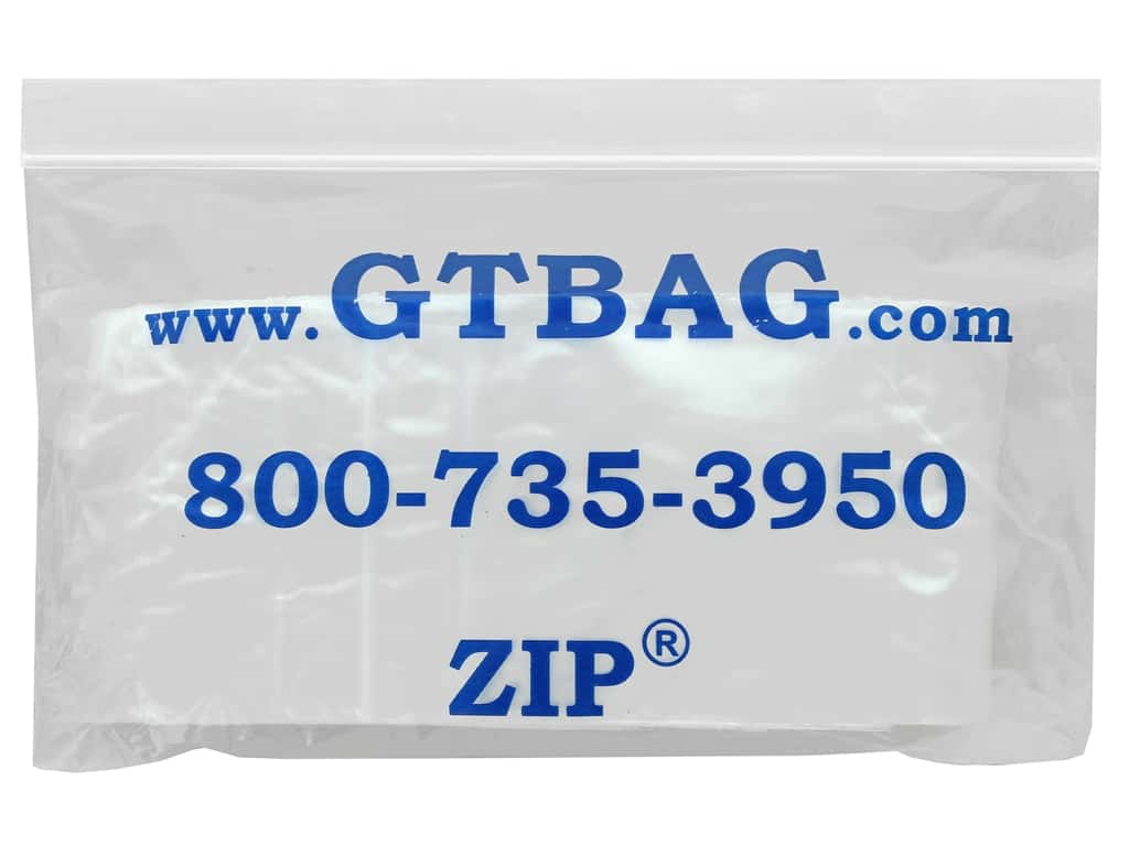 GTZIP Plain 2 Mil Zip Bags 3 x 3 in. Clear 100 pc.