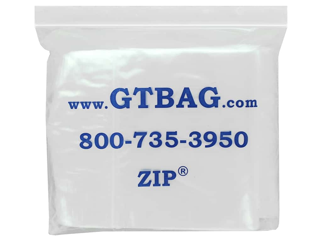 GTZIP Plain 2 Mil Zip Bags 6 x 9 in. Clear 100 pc.