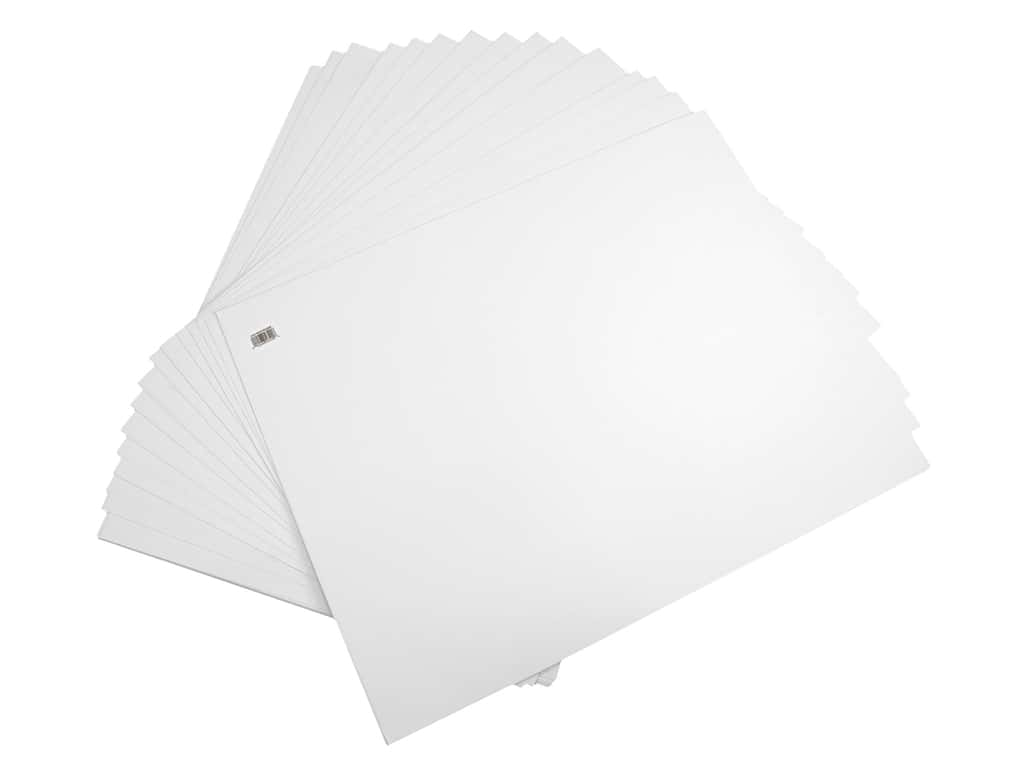 Pro Art Poster Board 22 in. x 28 in. 6 ply White 100 pc (100 pieces)