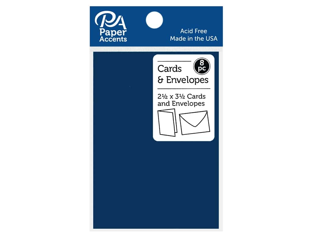 "Paper Accents Card & Envelopes 2.5""x 3.5"" Smooth 65lb 8pc Riviera"