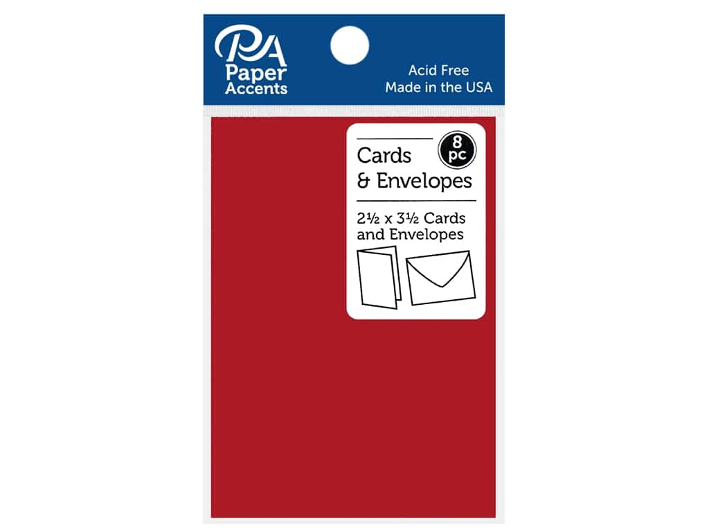 """Paper Accents Card & Envelopes 2.5""""x 3.5"""" Smooth 65lb 8pc Fiesta"""