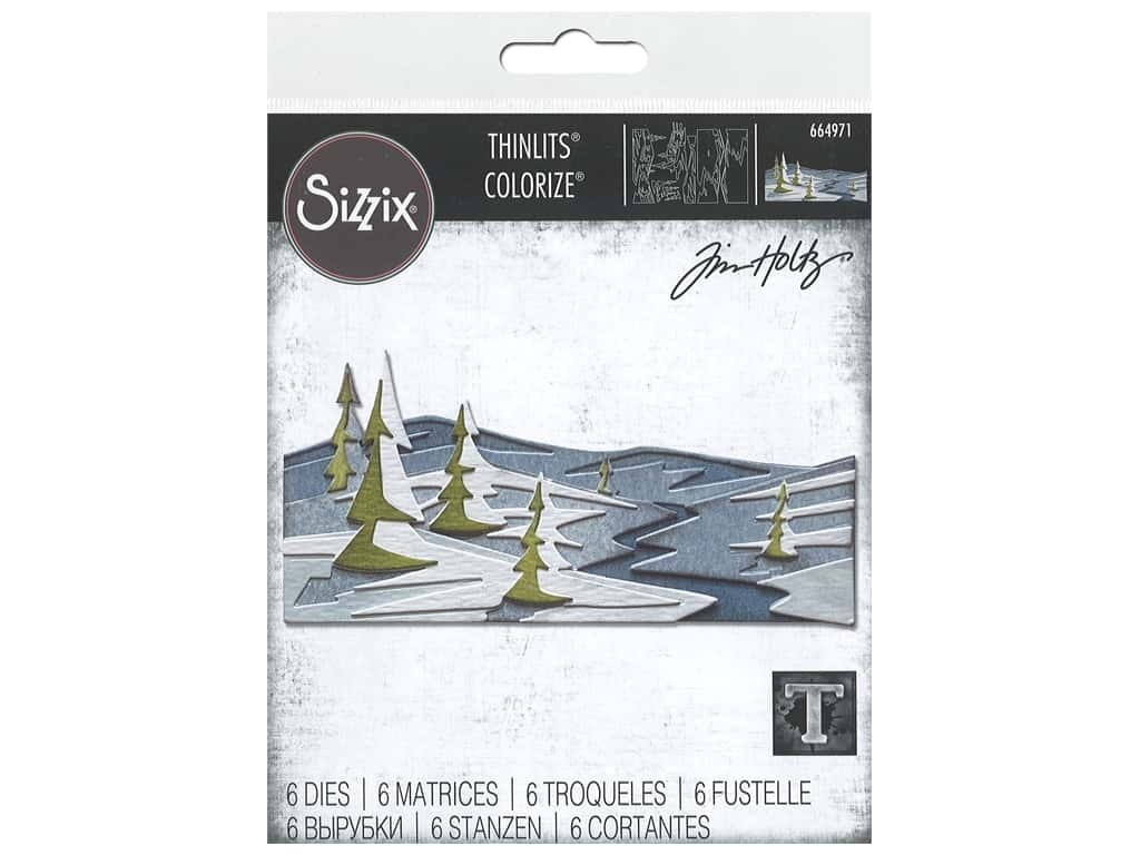 Sizzix Dies Tim Holtz Thinlits Snowscape Colorize
