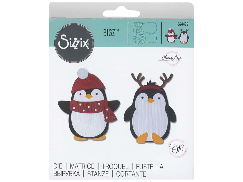 Sizzix Dies Olivia Rose Bigz Penguin Friends