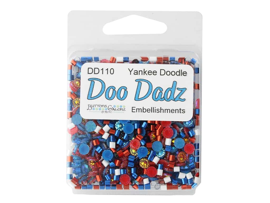 Buttons Galore Embellishments DooDadz Yankee Doodle