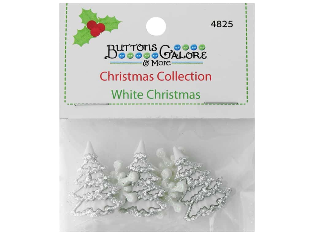Buttons Galore Theme Button Christmas Collection White Christmas