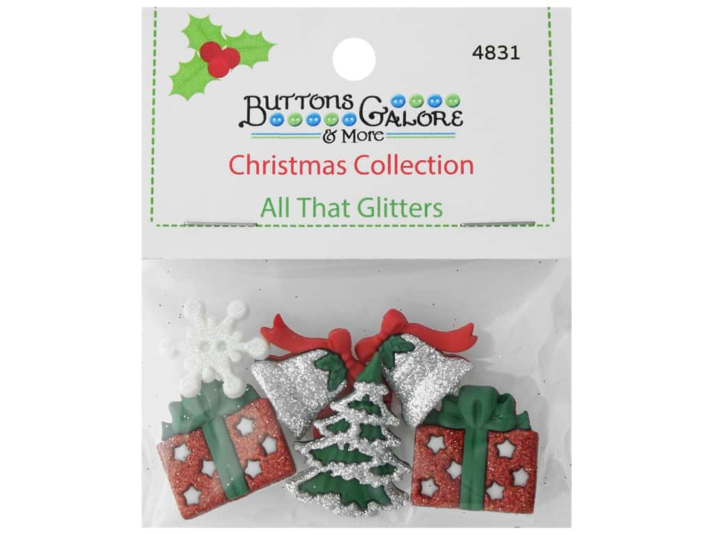 Buttons Galore Theme Button Christmas Collection All That Glitters