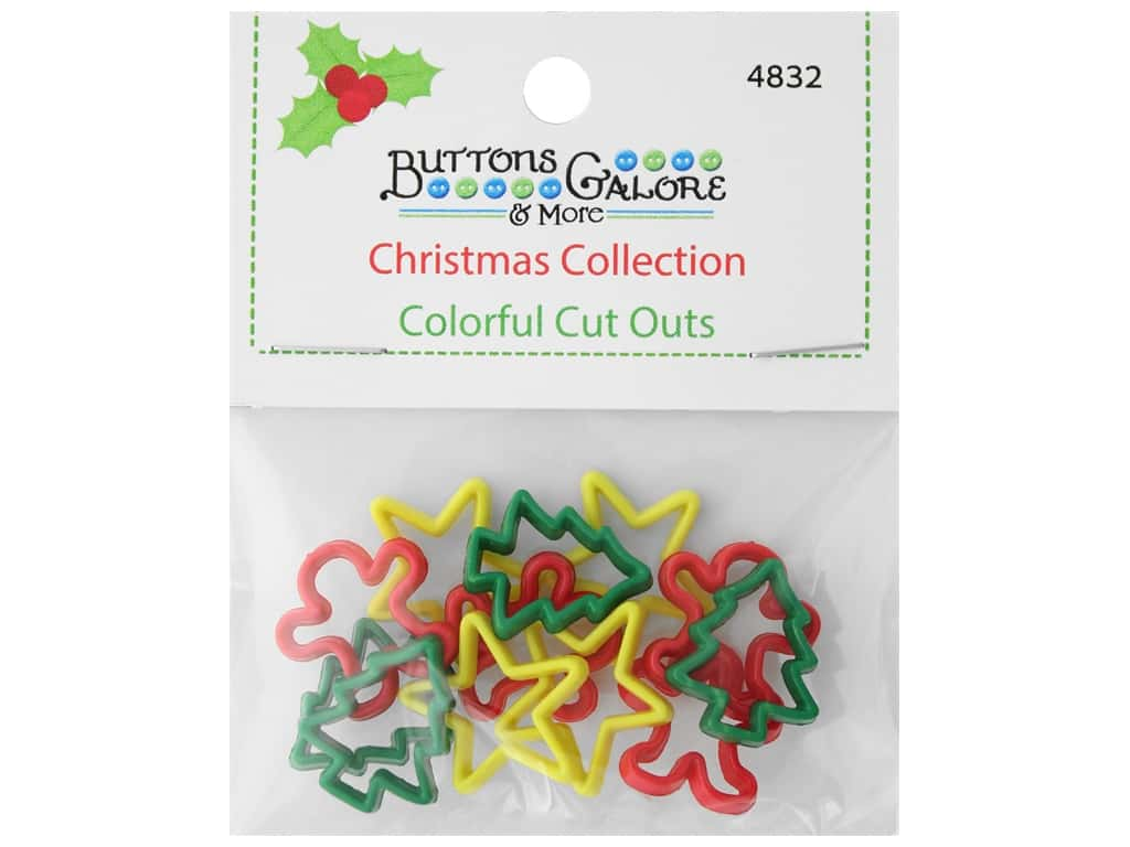 Buttons Galore Theme Button Christmas Collection Colorful Cut Outs