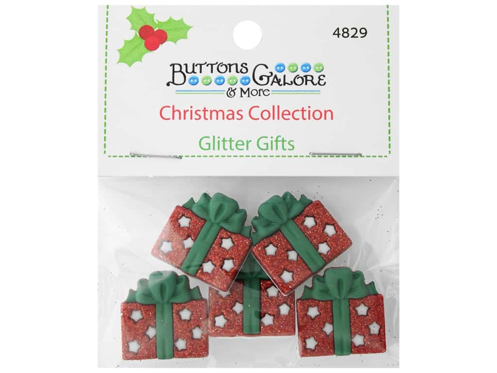 Buttons Galore Theme Button Christmas Collection Glitter Gifts