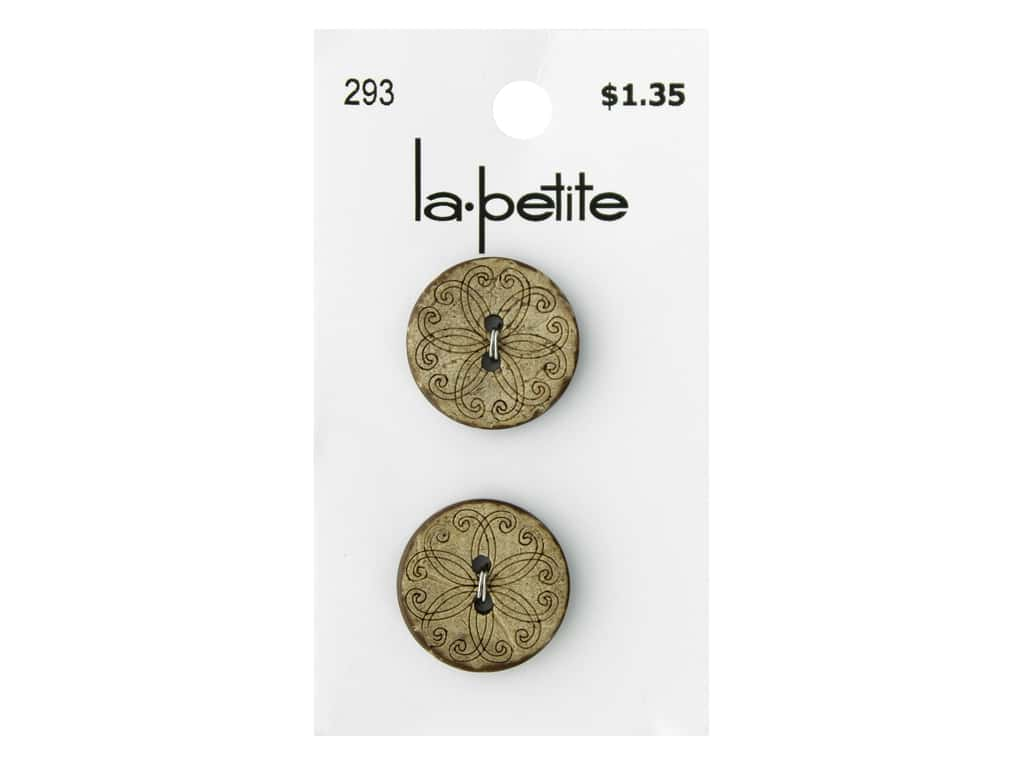 LaPetite Buttons - 2 Hole - 3/4 in. Coconut 2 pc.