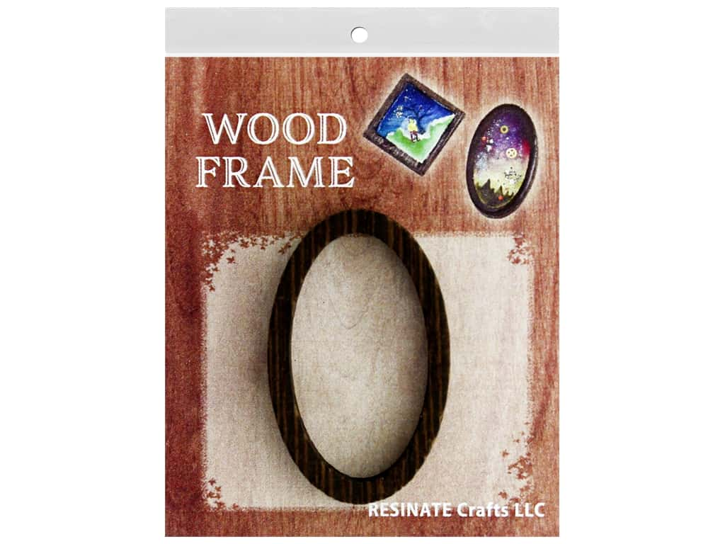 Resinate Wood Frame Oval