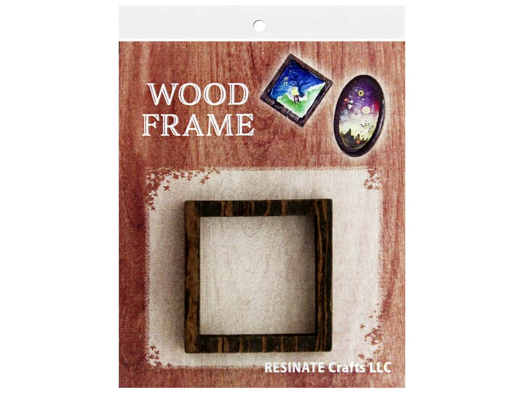 Resinate Wood Frame Square
