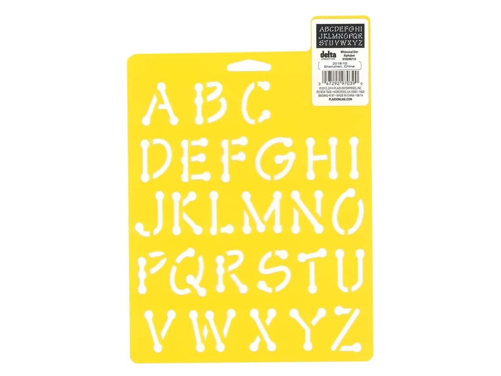 Delta Stencil Mania 7 x 10 in. Alphabet Whimsical Dot