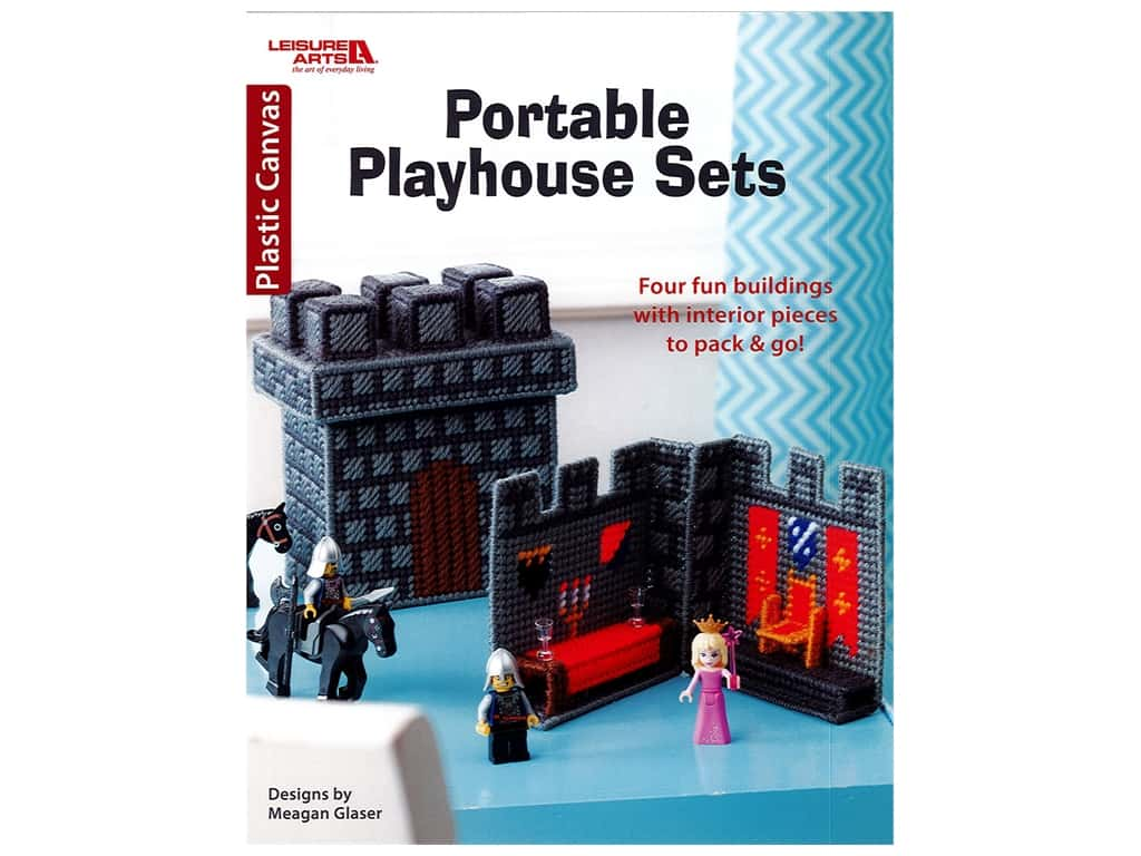 Leisure Arts Portable Playhouse Sets Plastic Canvas Book