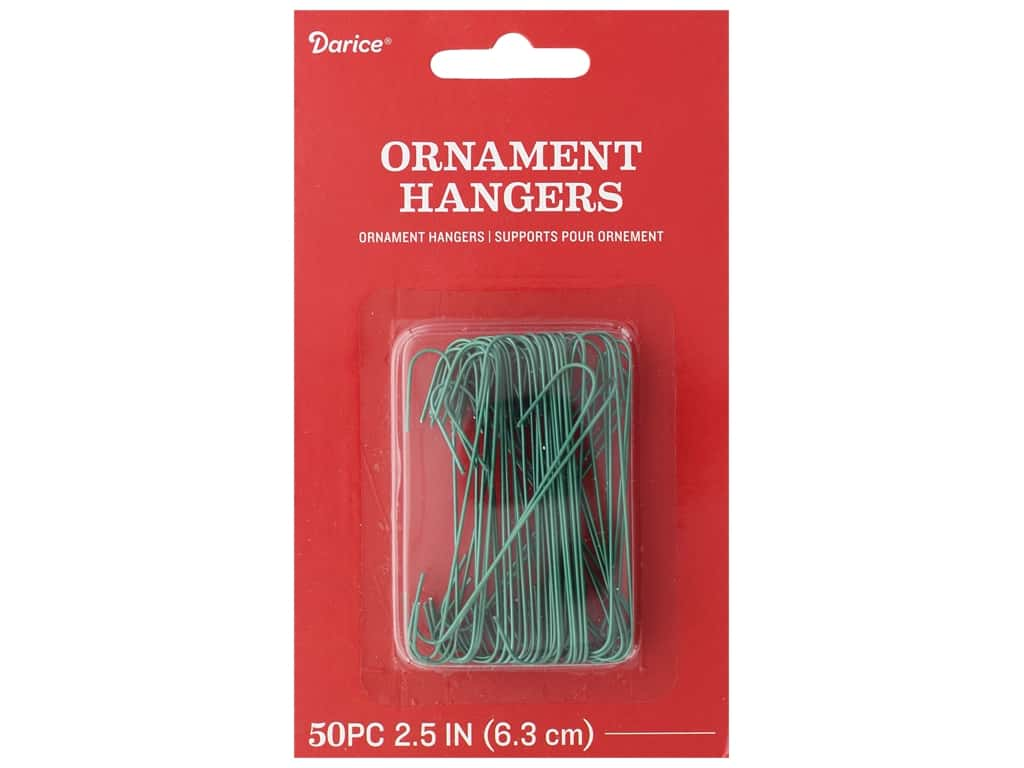 Darice Holiday Christmas Ornament Hooks 2.5 in. Green