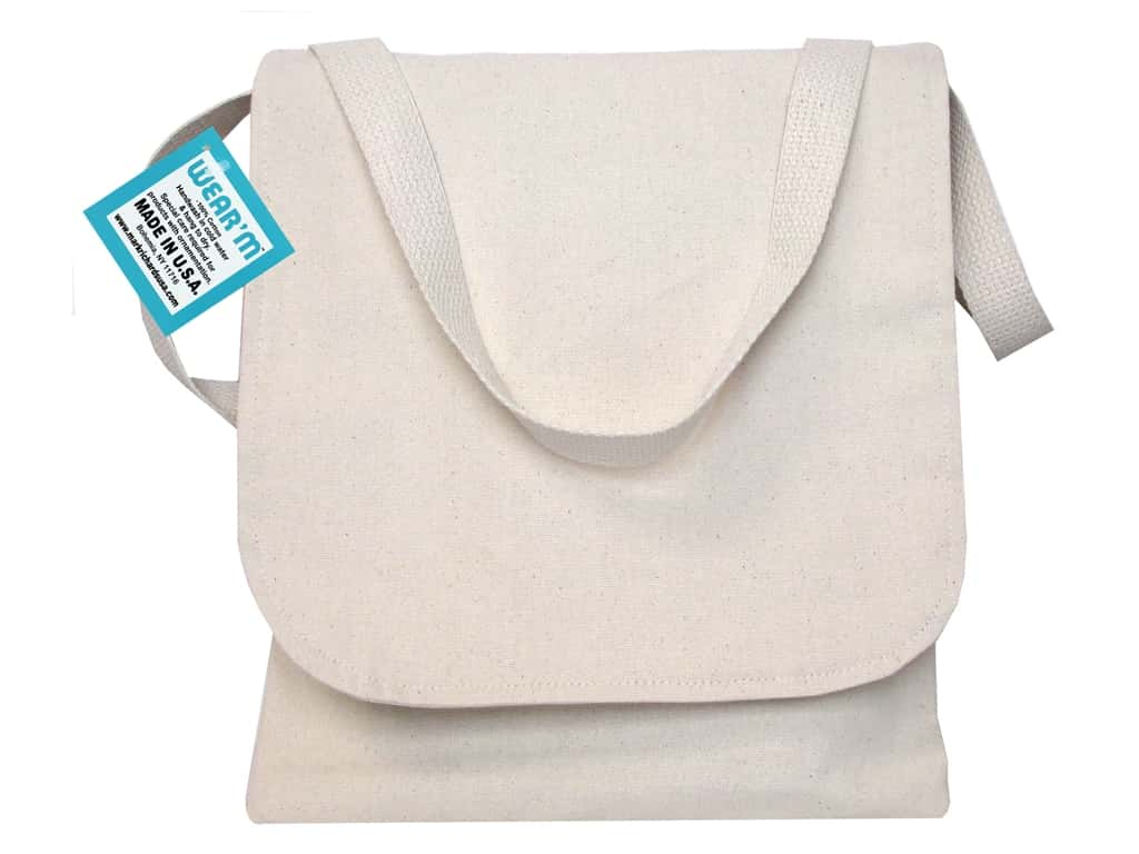 Mark Richards Canvas Book Bag 10 1/2 x 12 in. Natural