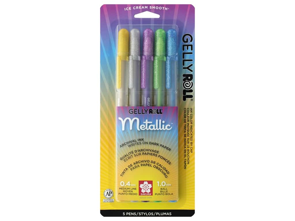 Sakura Gelly Roll Metallic Pen Set Hot 5 pc.