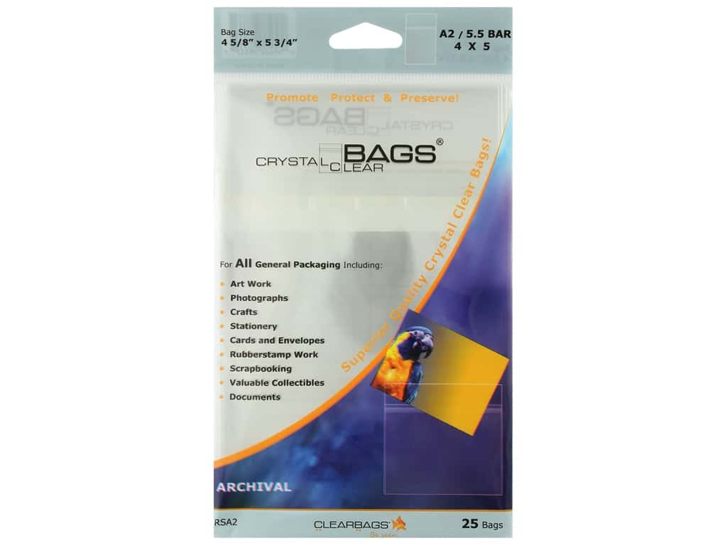 ClearBags Crystal Clear Bag 4 1/4 x 5 1/2 in. Stationery 25 pc.