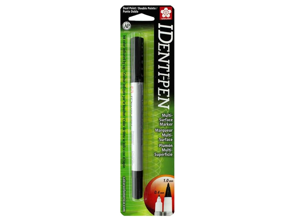 Sakura Identi-Pen Permanent Marker Dual Point Black