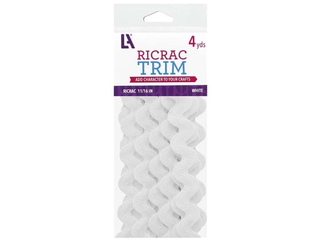 Leisure Arts Ric Rac Trim - 11/16 in. White 4 yd.