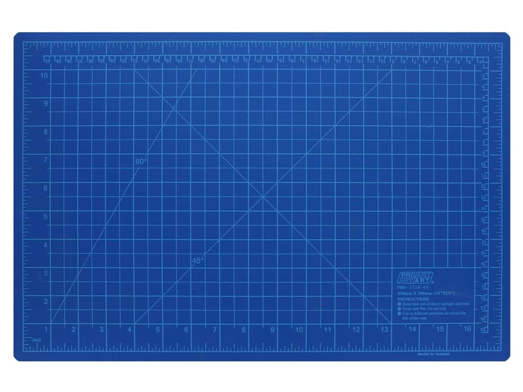 Pro Art Cutting Mat 12 x 18 in. Blue
