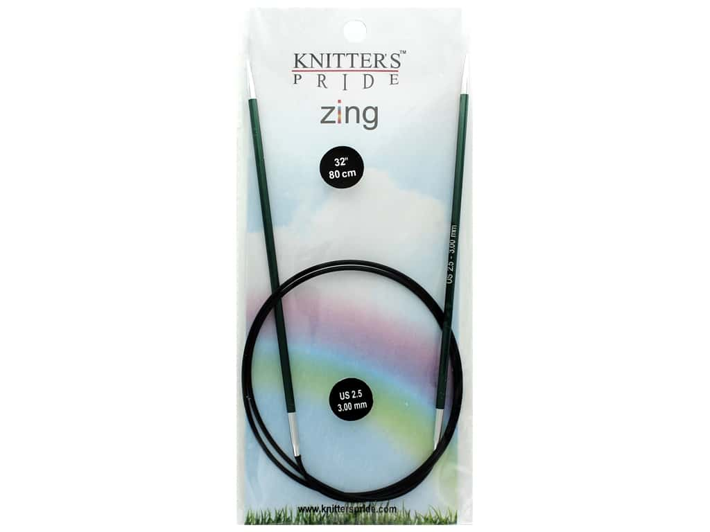 "Knitter's Pride Zing 32"" Fixed Circle Needle Size 2.5"