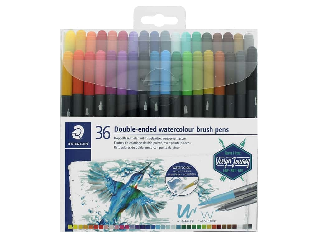 Staedtler Double-Ended Watercolor Brush Pens 36pc