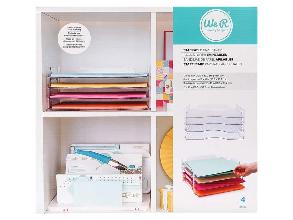 We R Memory Paper Trays 12 in. x 13 in. Stack & Nest
