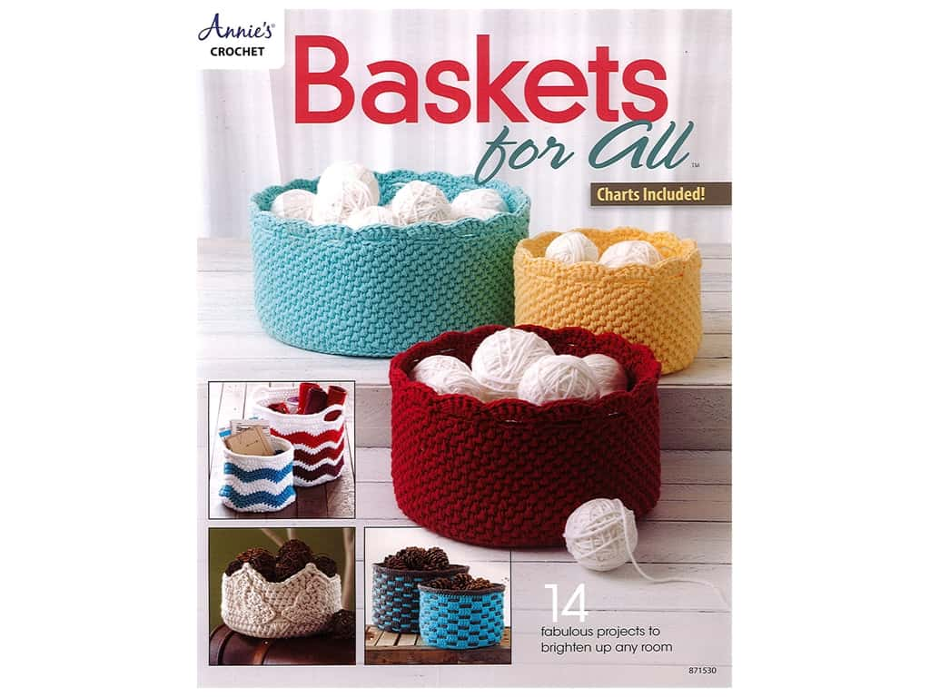 Annie's Crochet Baskets For All Bk