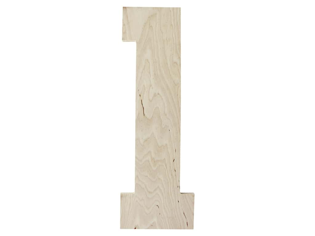 "MPI Marketing Wood Letter 13"" Baltic Birch No 1"