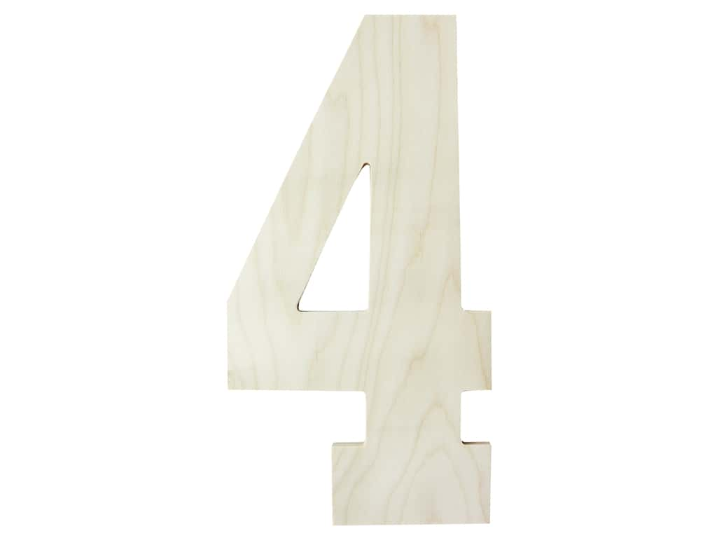 "MPI Marketing Wood Letter 13"" Baltic Birch No 4"