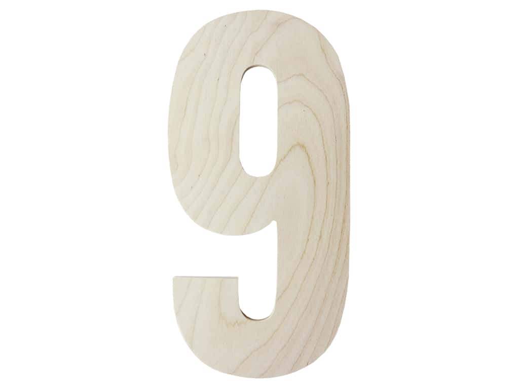 "MPI Marketing Wood Letter 13"" Baltic Birch No 9"