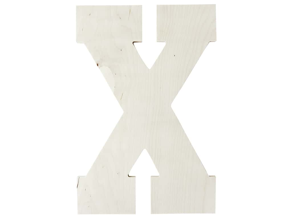 "MPI Marketing Wood Letter 13"" Baltic Birch X"