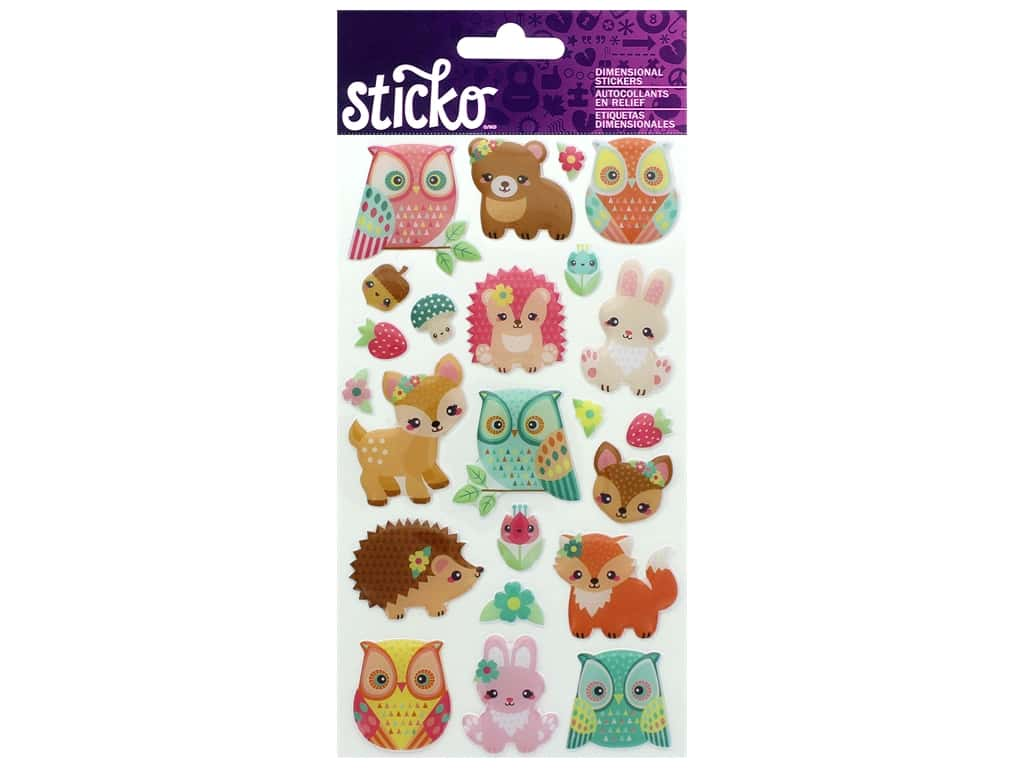 Sticko Epoxy Stickers - Woodland Creatures