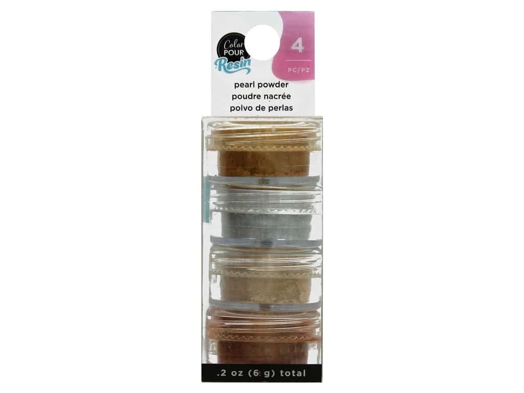 American Crafts Color Pour Resin Mix In Pearlescent Powder Metallic