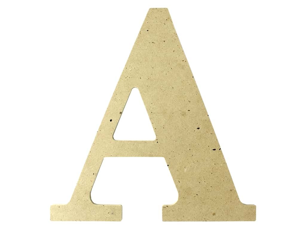 "MPI Marketing Wood Letter 9.5"" MDF A"