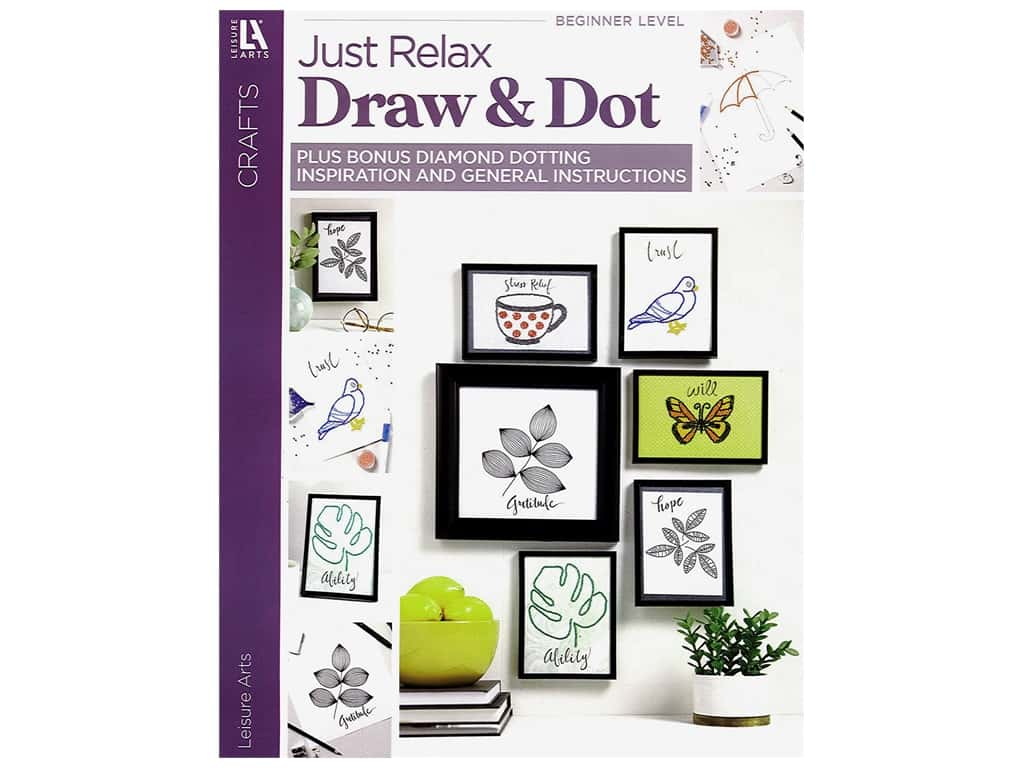 Leisure Arts Just Relax Draw & Dot Book