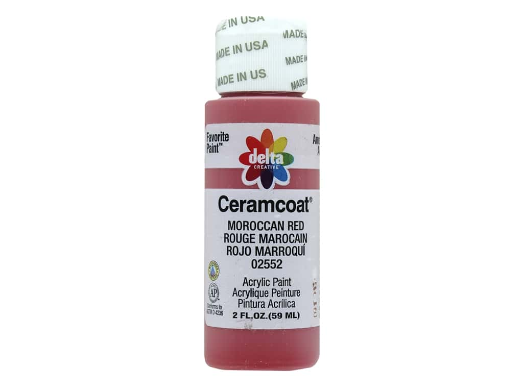 Delta Ceramcoat Acrylic Paint - #2552 Moroccan Red 2 oz.